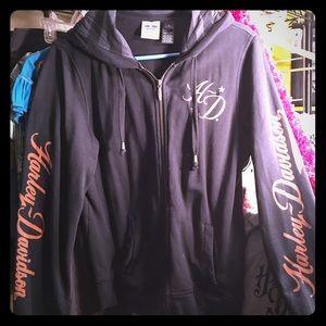 Harley-Davidson Tops - Ladies Harley Davidson zip up hoodie